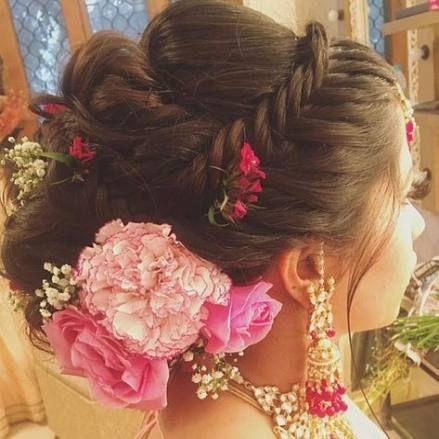 Wedding Hairstyles Pakistani Low Buns 58 Ideas For 2019 Bridal Hair Floral Hair Indian Bridal Hairstyles