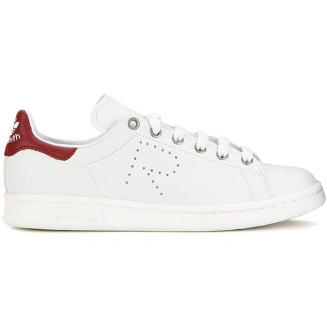 reputable site 12a9f 4eaa3 Adidas by Raf Simons Stan Smith Leather Sneakers ( 315) ❤ liked on Polyvore  featuring