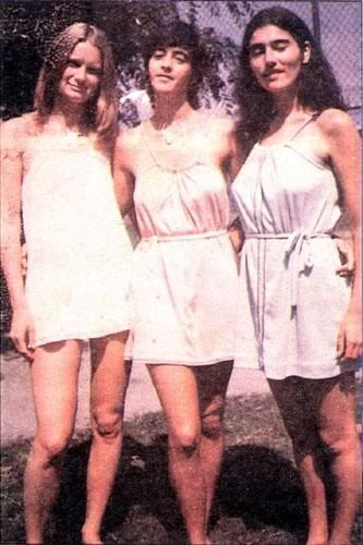 Mary Brunner, Susan Atkins, and Catherine Share (aka Mother Mary, Sadie Mae Glutz, and Gypsy)