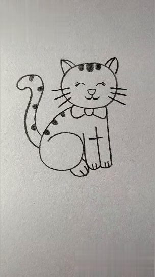 Stap voor stap een kat tekenen. De tekening begint met de som: 6+1. De zes is dan de poot van de kat, de 1 is de andere poot. Belangrijk is dat de kinderen met een grijs potlood beginnen, zodat ze foutjes kunnen uitgummen. De kat mogen ze zelf versieren.