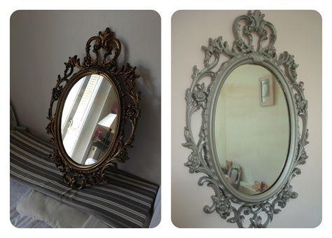 Ovale Blanc Mural Miroir Biseauté chambre salon hall Girly Home