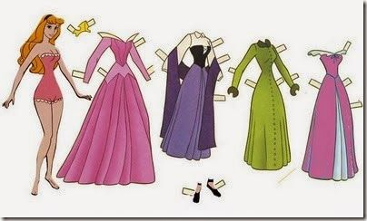 Princesas para recortar y vestir