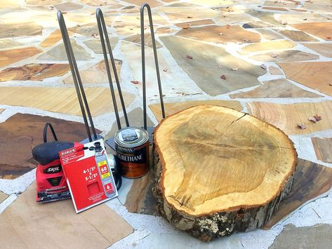 How to Make a DIY Tree Slice Table | A Lively Mind