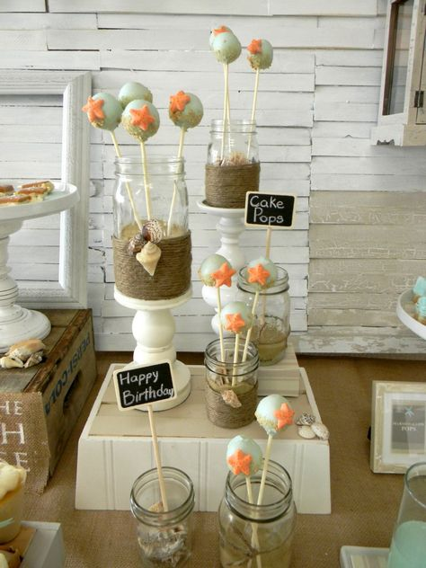 Beach Theme Cake Pops