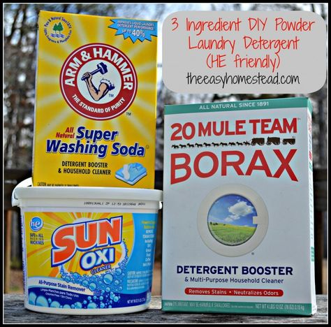 Homemade Laundry Detergent Powder Recipe Powder Laundry