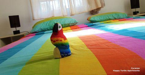 Bed is gedekt! De nieuwe gasten komen er aan. Happy Turtle