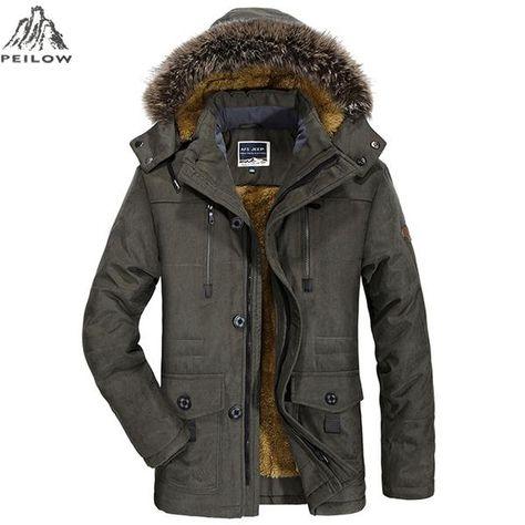 52dc83c5812e PEILOW plus size 5XL 6XL Winter Jacket Men thick Windproof Hood parka mens  jackets and coats Windbreaker Coat Jaqueta… #jackets #fashion