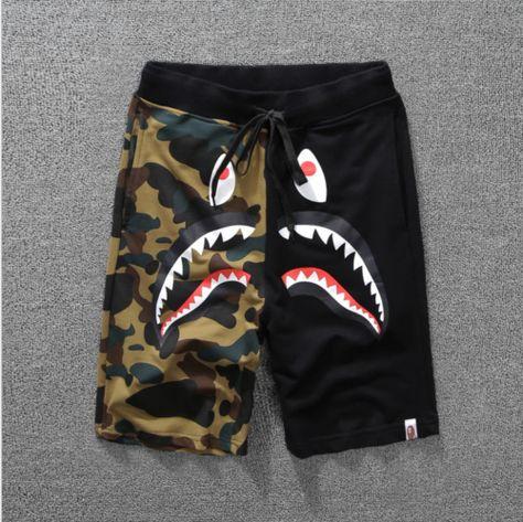 APE TEES Mens Shark Casual Sports Pants