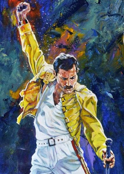 Freddie Mercury fine art print and limited edition canvas giclee – aDamnFineArtist.com
