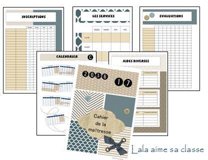 New cahier du maître ou de la maîtresse (avec calendriers 3 zones)