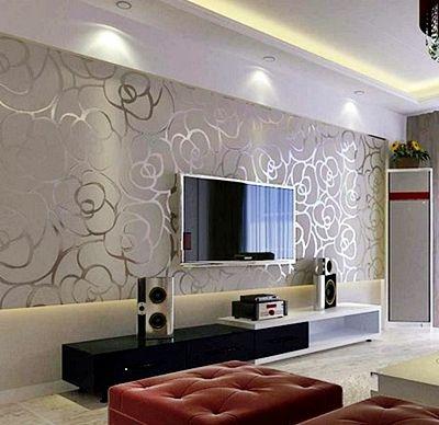 Desain Contoh Gambar Wallpaper Dinding Rumah Minimalis Untuk Ruang Keluarga Situs Bangunan Pinterest Wallpaper Tv Unit And Living Rooms