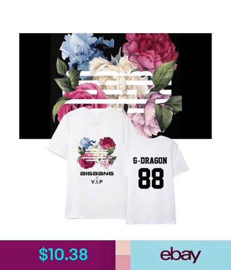 Korean Pop BigBang T-shirt Fleur Road ablum tshirt T.O.P sol déjà Nom Lettre tee NEW