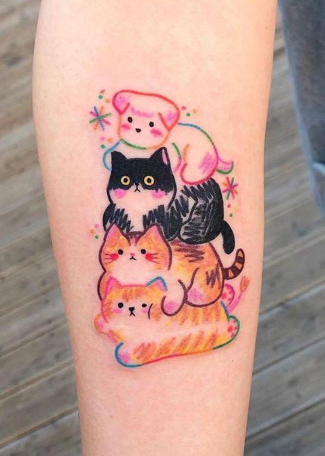 Extrem süßes Tattoo Design für Mädchen – Beauty Life Tips … Cute Small Tattoos, Pretty Tattoos, Small Colorful Tattoos, Random Tattoos, Tattoo Designs For Girls, Small Tattoo Designs, Shape Tattoo, Color Tattoo, Bild Tattoos