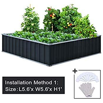 Amazon Com Lifetime 60069 Raised Garden Bed Kit 4 By 4 Feet