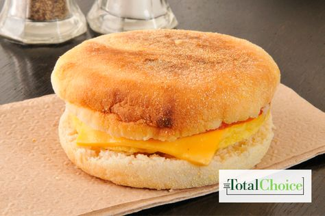 Total Choice Cheesy Egg Sandwich: This fiber and protein-rich meal from the Total Choice 1200-calorie plan will help keep you fueled during busy mornings.
