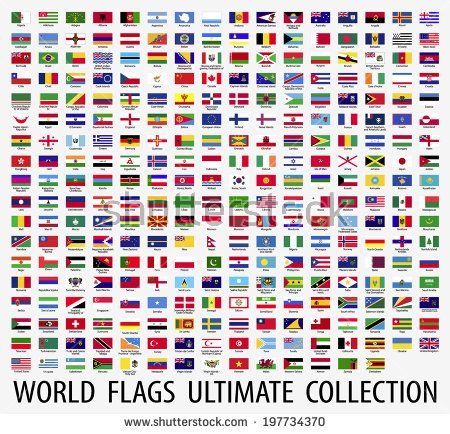 Pdf With Every Flag As A Coloring Picture Flags Of The World Flag Flag Vector