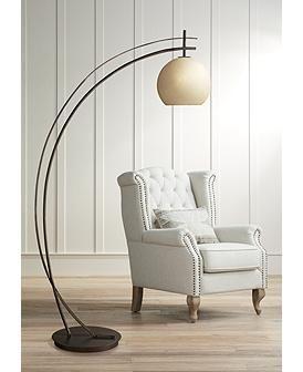 Possini Euro Venus Oil Rubbed Bronze Arc Floor Lamp 1g319