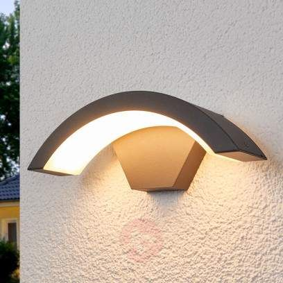 Outdoor Edison Bulb Lamp with Curved