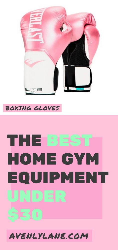 10 at Home Gym Essentials are all under $30 and will help you to lose weight and build a cheap home gym on a budget! You will be able to lose weight from your own room, garage, or even basement. Check out the full post on avenlylane.com | #homegym #gym #homegymideas #workout #fitness #health #yoga #wellness #yogamat #avenlylanefitness