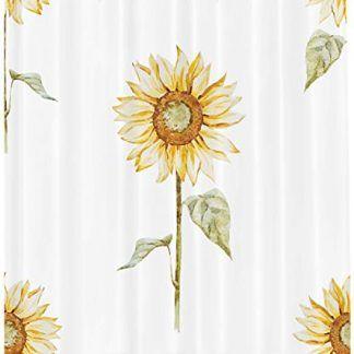 Ambesonne Sunflower Decor Shower Curtain Set Sunflower Decor