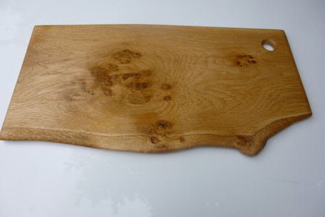 English Ash Live edge waney slab oak wood rustic decorative cheeseboard serving