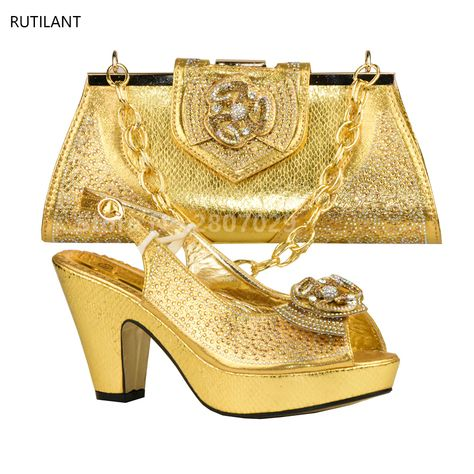 Women Shoe and Bag Set In Italy Designer Shoes and Bag Sets