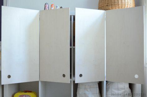 Diy Plywood Doors For Ikea Expedit Shelf Cache Radiateur
