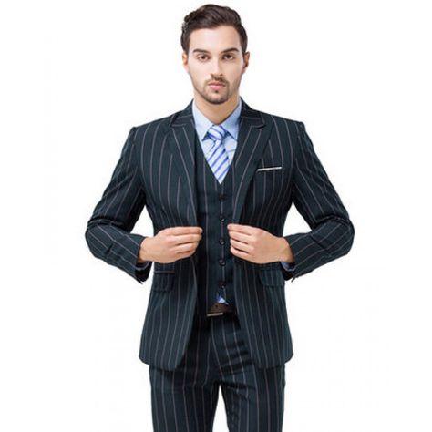 Costume à rayures 3 pièces prêt à porter pour homme  abcc16d3c9d