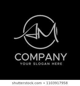 Initial Letters A M Elegant Logo Modern Logo Design Vector