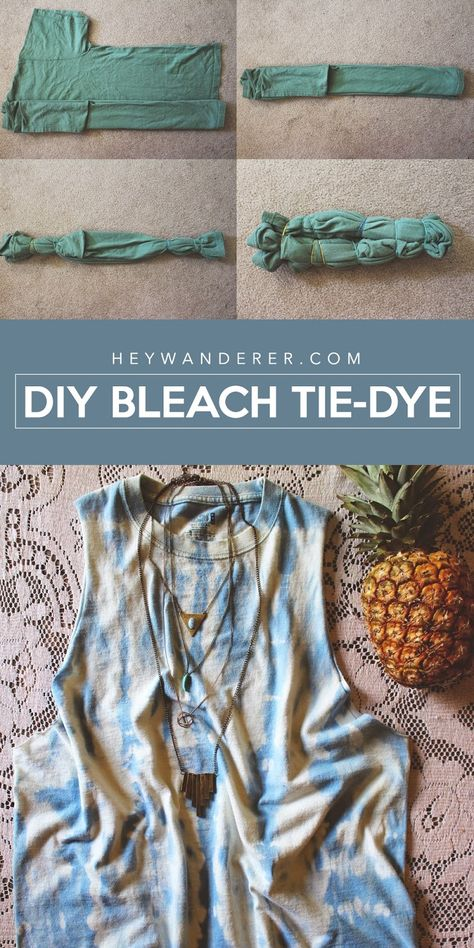 Bleach Tie Dye Discover diy: bleach tie dye technique Stylish Home Decor Beautiful DIYS Adventurous Travel Lifestyle Best Friend Inspiration Nashville and more! Diy Outfits, Tie Dye Outfits, Tye And Dye, How To Tie Dye, Reverse Tye Dye, Easy Diy Tie Dye, Tie Dye Tips, Ice Tie Dye, Diy Tie Dye Shirts