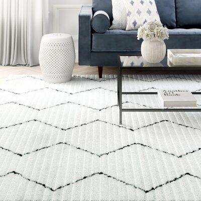 Union Rustic Behrens Geometric Handmade Tufted White Area Rug White Area Rug Modern Area Rugs Rugs On Carpet