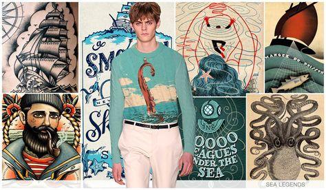 Mens key graphics F/W Sea Legends