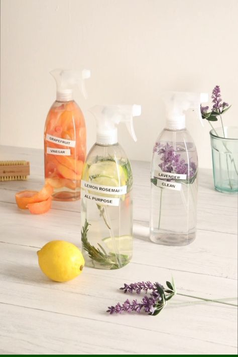 Many of us are trying to reduce our single plastic use, but what do you do with those bottles you've already got? You could chuck them in the recycling bin, but we've got a better idea. Our cleaning spray recipe is simple to make, comes in 3 incredible scents, and is the perfect way to make use of your old spray bottles.