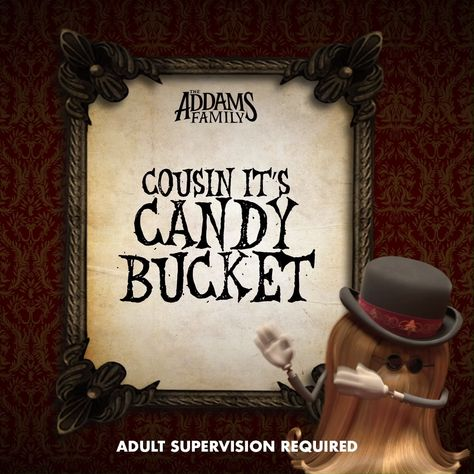 Make your own Cousin It candy holder or prop! The Addams Family is Now Playing in theaters!