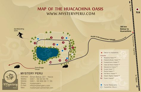 Huacachina Peru Map.Huacachina Oaisis Peru Map Travel Spots Pinterest