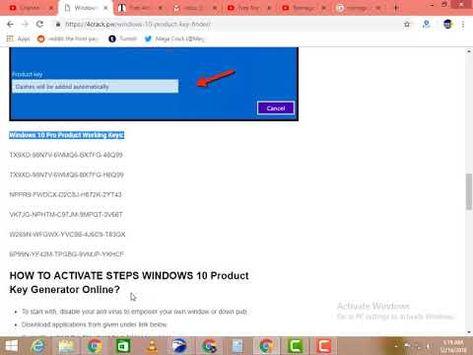 windows 10 product key generator 32 & 64 bit full version