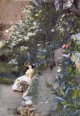 Summertime In The Garden Paintings Zorn Art Painting