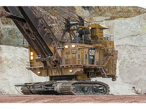 Cat 7495 Electric Rope Shovel Caterpillar #Caterpillar #Shovel - dragline operator sample resume
