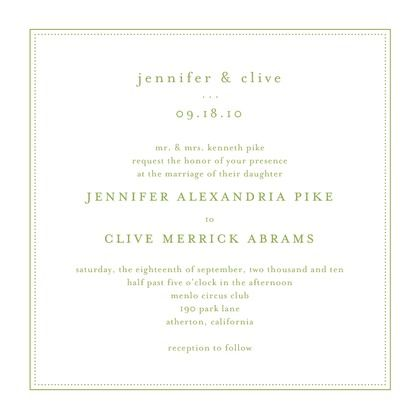 Pure Style - Thermography Wedding Invitations - Jenny Romanski - TH Charcoal - Gray : Front