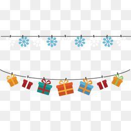 Vector Snowflake Christmas Gift Box Banners Vector Christmas