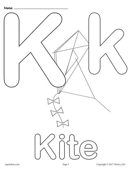 Letter K Alphabet Coloring Pages 3 Printable Versions Alphabet Coloring Pages Abc Coloring Pages Preschool Coloring Pages