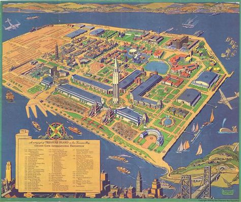 NYC World's Fair 39 | a good Collage/Map/Infographic ... on