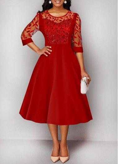 Rotita Com Usd 24 24 Vintage Red Dress Translucent Dresses Dresses