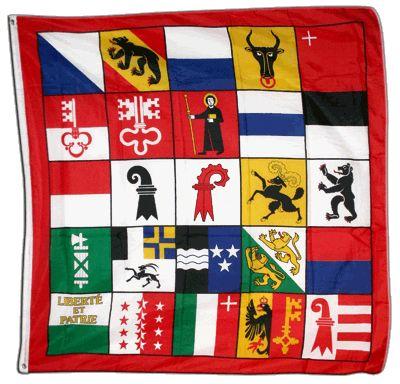 Switzerland 25 Cantons Flag 4 X 4 Ft Switzerland Switzerland Flag Store Flag