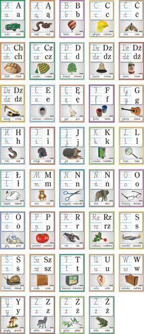 Alfabet Z Obrazkami Alfabet Polski Reguly Klasowe Edukacja