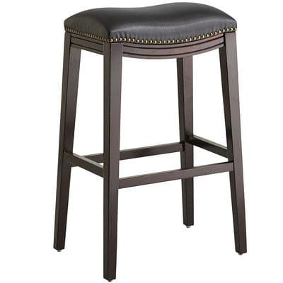 Halsted Black Backless Bar Stool Backless Bar Stools Counter