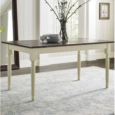 Lark Manor Asuncion Solid Wood Dining Table In 2020 Solid Wood
