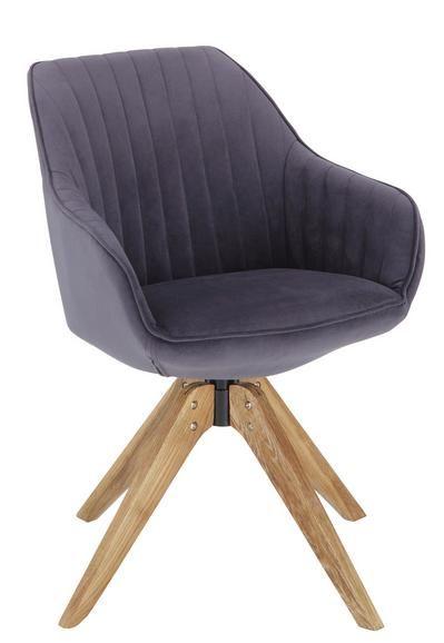 Armlehnstuhl In Grau Gemutlicher Sessel Esszimmer Mobel Und Armlehnstuhl