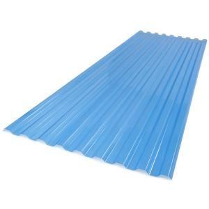 Suntuf 26 In X 6 Ft Polycarbonate Roof Panel In Sky Blue 173522 The Home Depot Polycarbonate Roof Panels Roof Panels Corrugated Metal Roof