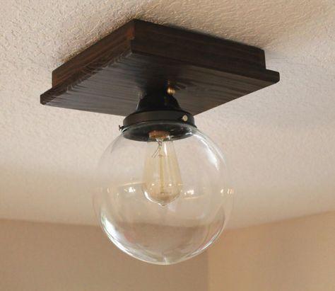 Semi Flush Mount Lighting  Glass Globe Lamp  by PartyandHomeDesign